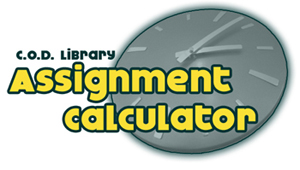 logo for the assignment calculator